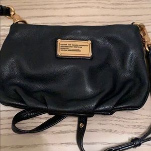 Authentic Marc Jacobs black leather cross body